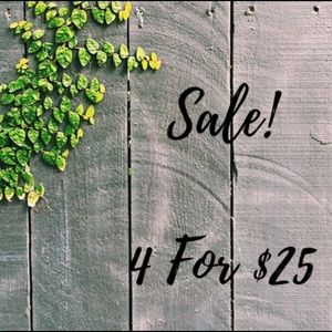 Please Select 4 items that are in my 4/$25 Sale!